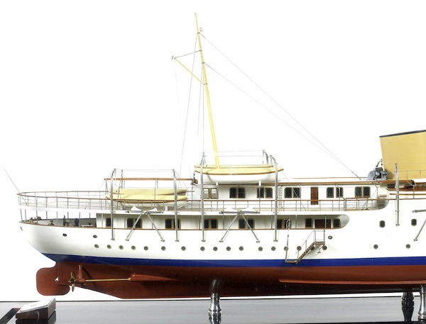 Image for article Model of Norwegian royal yacht at Bonhams